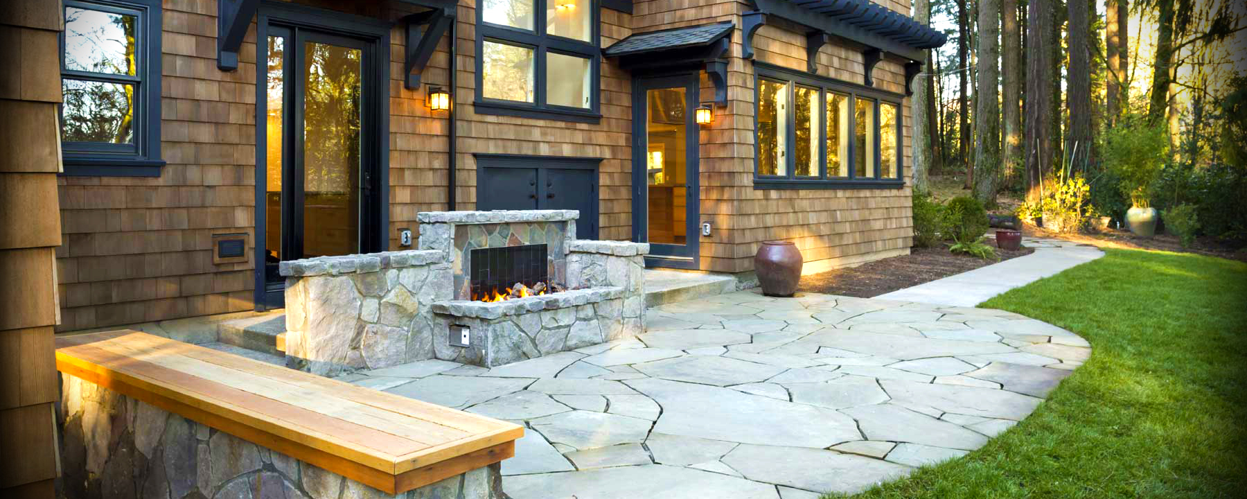 Paver Patios and Walkways | Newport Ave Landscaping on Outdoor Pavers Patio id=13690