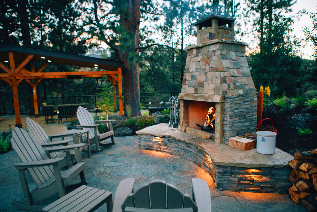 Fire Pits and Outdoor Fireplaces | Newport Ave Landscaping on Outdoor Fireplace Pit id=77672