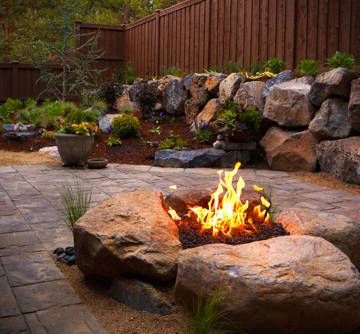 fire pits and outdoor fireplaces newport ave landscaping