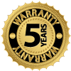 Five Year Installation Warranty