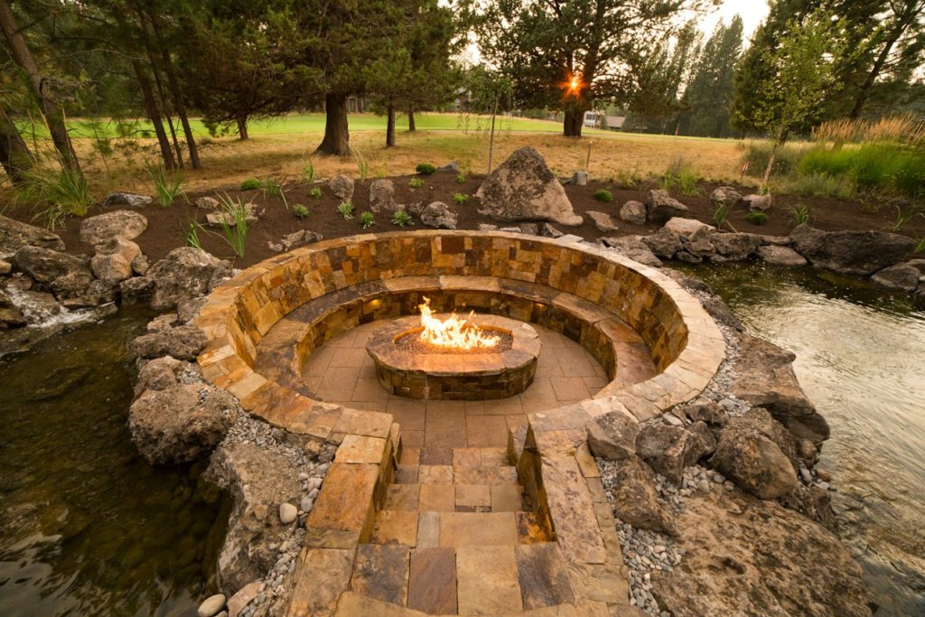 Outdoor Gas Fire Pit Seating