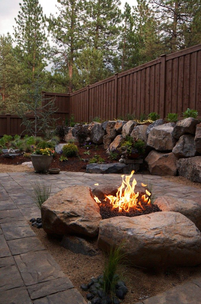 Paver Patio and Gas Fire Pit Install | Newport Ave Landscaping on Pavers Patio With Fire Pit id=47595